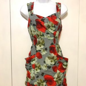 Floral Summer Dress Pockets Andrew Marc New York